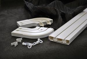 Настенные пластиковые карнизы для штор